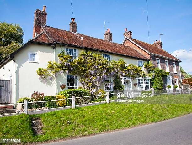 Historic houses in the village of Ramsbury Wiltshire England