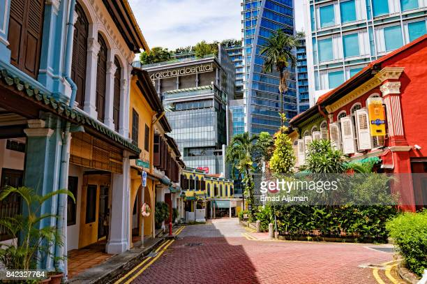 Historic houses of Emerald Hill Road off Orchard Street, Singapore - August 19, 2017
