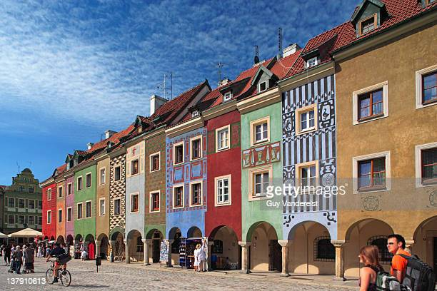 Historic houses on Old Market Square in Poznan.
