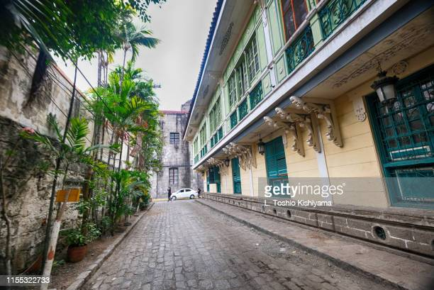 historic intramuros in manila, philippines - old manila stock pictures, royalty-free photos & images