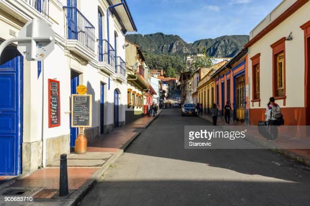 Historic La Candelaria neighborhood in Bogota, Colombia