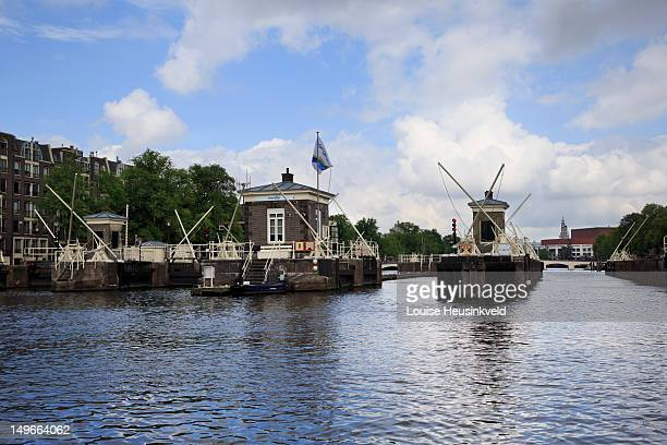 Historic locks on the Amstel River