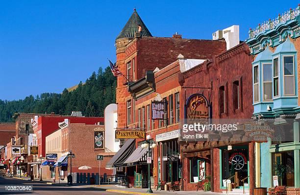 historic main street. - deadwood south dakota stock pictures, royalty-free photos & images