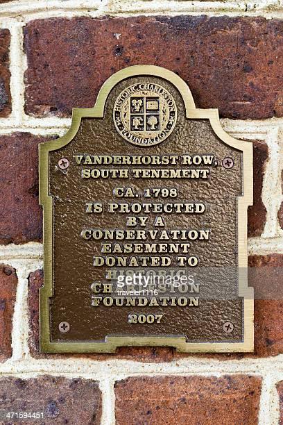 Historic Marker In Charleston, South Carolina