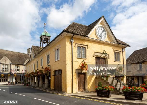 Historic Market Hall building Tetbury Gloucestershire Cotswolds England UK