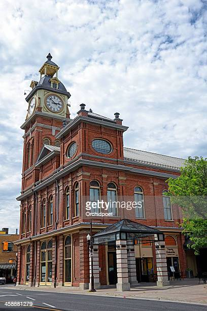 historic market hall - peterborough ontario stock photos and pictures