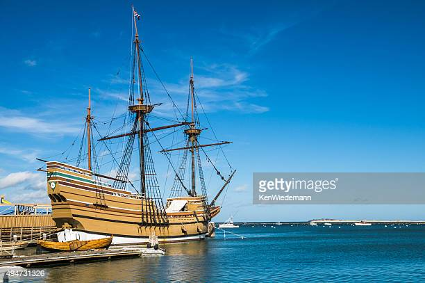 historic mayflower ii - plymouth massachusetts stock photos and pictures