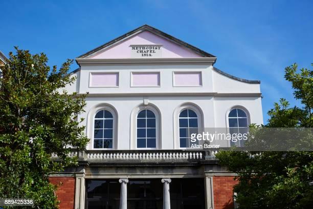 historic methodist church in tiverton - methodist church stockfoto's en -beelden