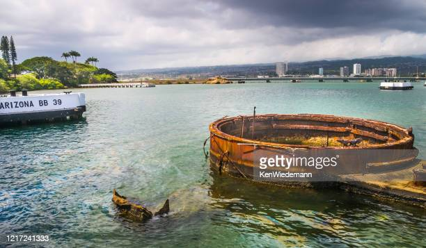 歴史的なオイルスリック - 真珠湾 ストックフォトと画像