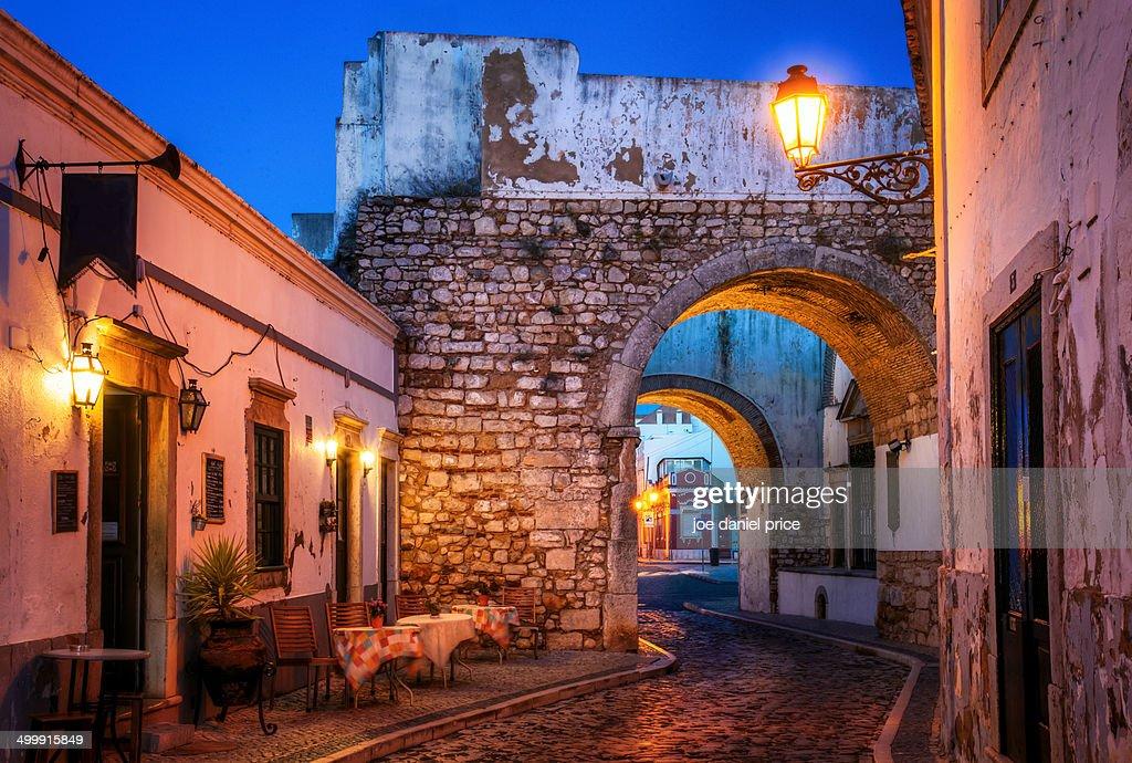 Historic Old Town at Faro, Algarve, Portugal : Stock Photo