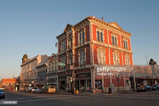 historic old town of petaluma. - petaluma stock pictures, royalty-free photos & images