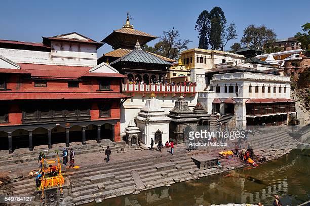historic pashupatinath burial temple, kathmandu - pashupatinath stock pictures, royalty-free photos & images