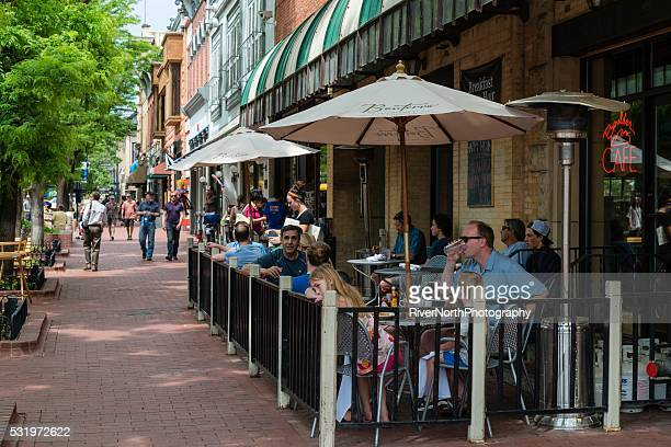 Historic Pearl Street Mall in Boulder Colorado