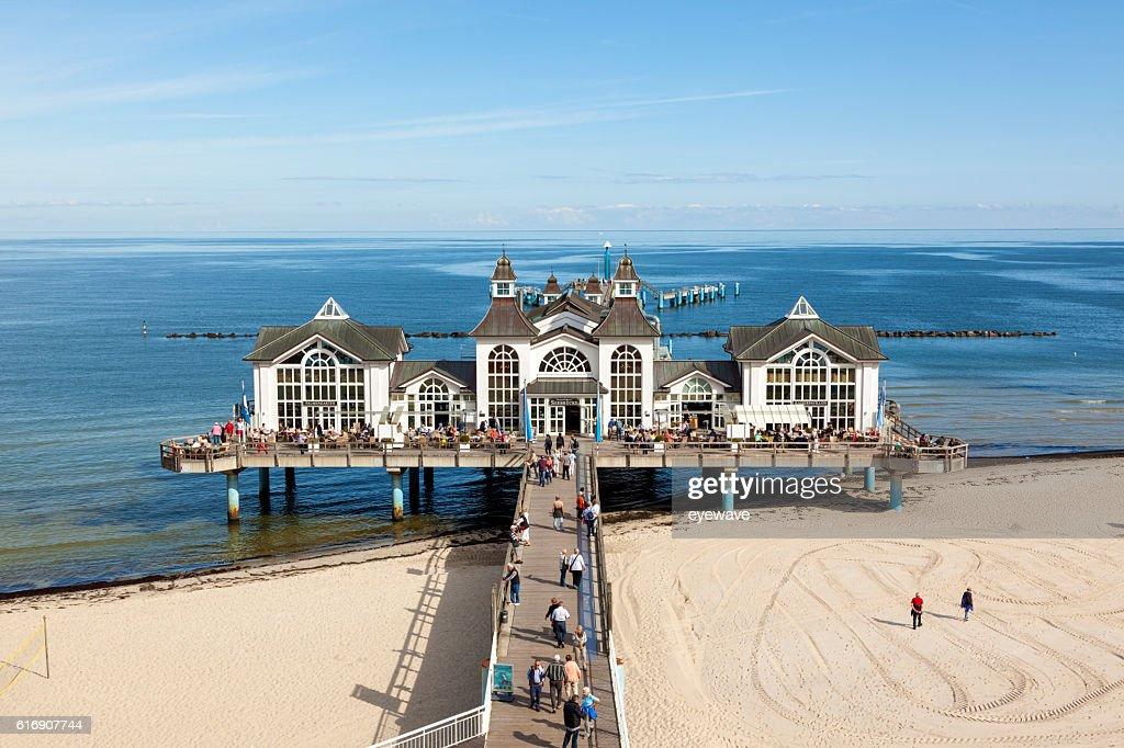 Historic pier of Sellin, Ruegen : Stock Photo