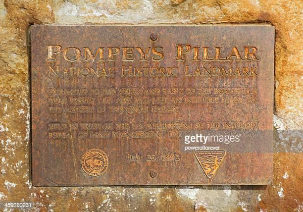 Historische Plakette auf der Pompejus-Säule, National Monument