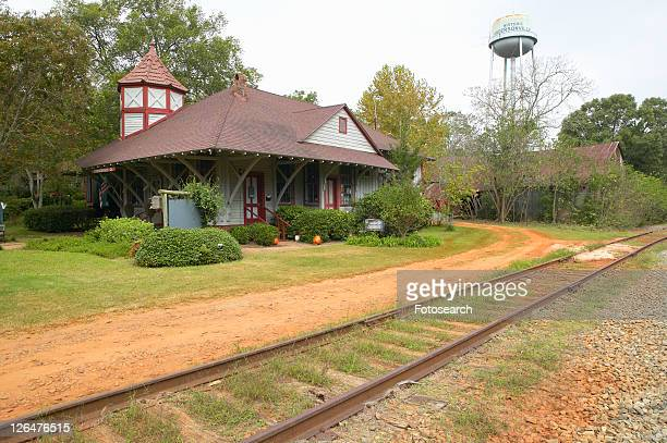 historic railroad station - andersonville prison stock pictures, royalty-free photos & images