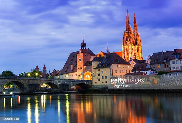 historic regensburg - regensburg stock photos and pictures