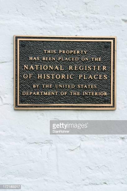 Historic Register Plakette