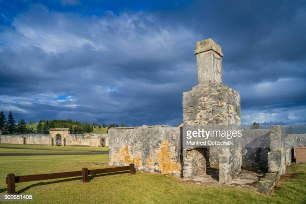 historic remains of early kingston settlement - old ruin stock pictures, royalty-free photos & images
