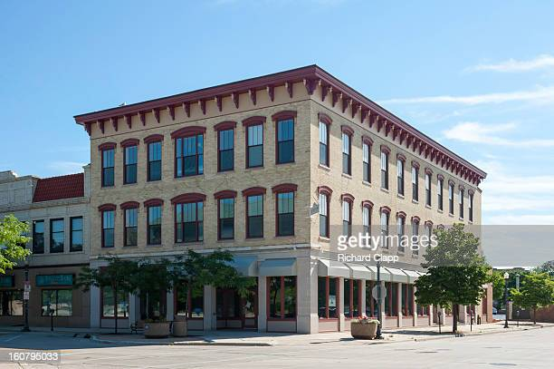 Historic retail and commercial building in downtown Sheboygan.