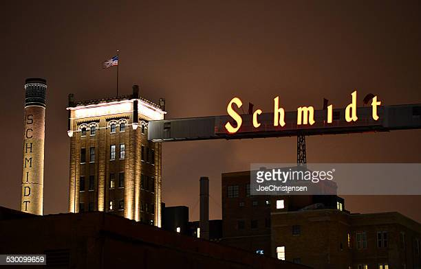 historic schmidt brewery artist lofts. - st. paul minnesota stock pictures, royalty-free photos & images