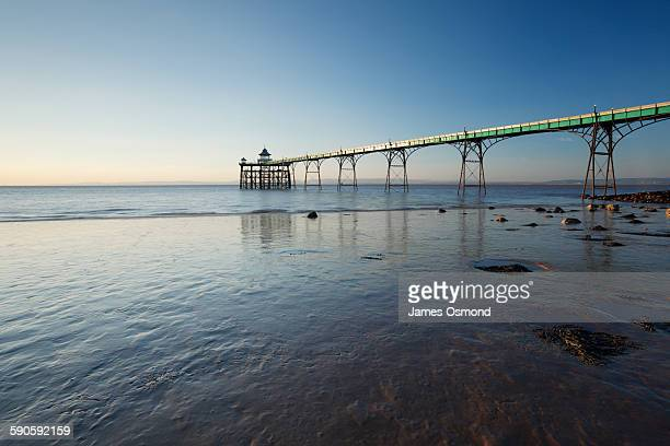 historic seaside pier - clevedon pier stock pictures, royalty-free photos & images