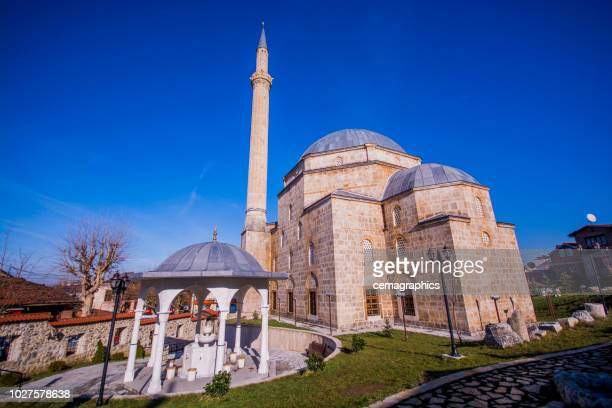 historic sinanpasa mosque from prizren - mosque stock pictures, royalty-free photos & images