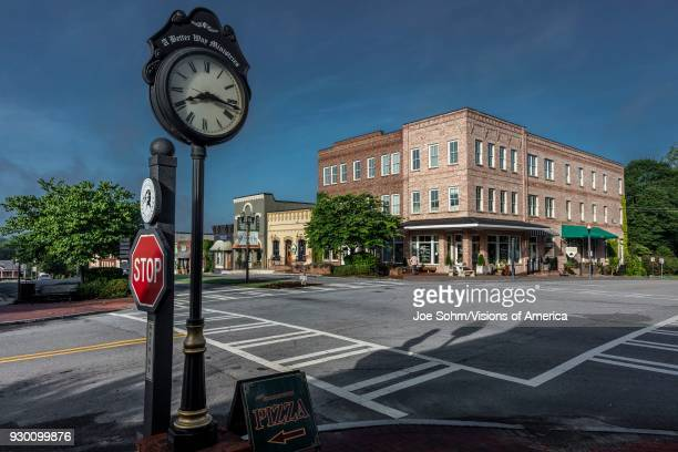 GEORGIA Historic small town and clock in south where 'Walking Dead' is filmed for Television