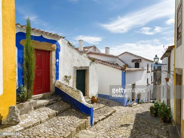 Historic small town Obidos with a medieval old town a tourist attraction north of Lisboa Europe Southern Europe Portugal