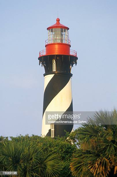 """historic st. augustine lighthouse in st. augustine, fl"" - st augustine lighthouse stock photos and pictures"