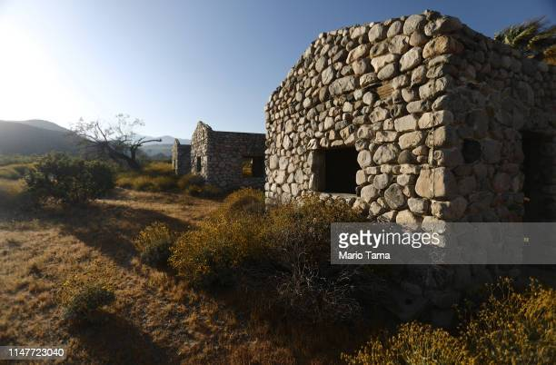 Historic stone casitas stand in the Coachella Valley on May 7 2019 in Desert Hot Springs California California's Fourth Climate Change Assessment...