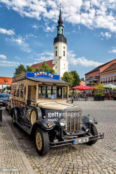 Historischen Taxi in Lubbenau im Spreewald, Deutschland