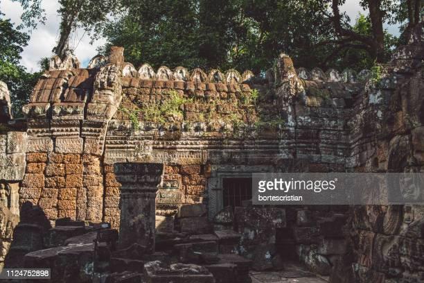historic temple against sky - bortes stock-fotos und bilder