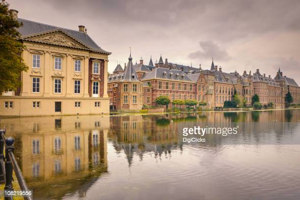 historic the hague - binnenhof stock photos and pictures