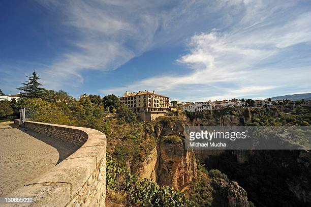 historic town centre, ronda, andalucia, spain, europe - michael mucha stock-fotos und bilder