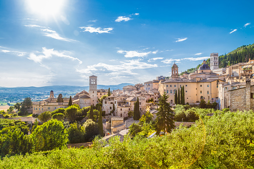 Historic town of Assisi, Umbria, Italy 624912828
