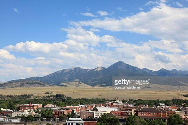 cidade histórica de livingston montana - montana - fotografias e filmes do acervo