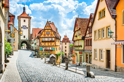 Historic town of Rothenburg ob der Tauber, Franconia, Bavaria, Germany 619638736