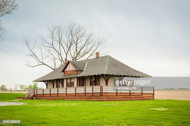 historic train station; charles town, west virginia, united states of america - protohistory_of_west_virginia stock pictures, royalty-free photos & images