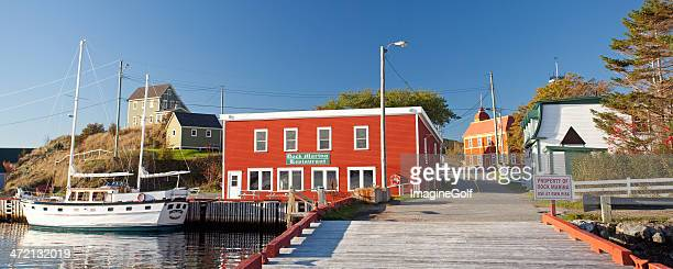 historic trinity fishing village in newfoundland - newfoundland and labrador stock pictures, royalty-free photos & images