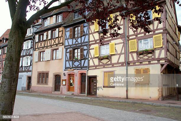 Historic, typical french houses in Colmar, France