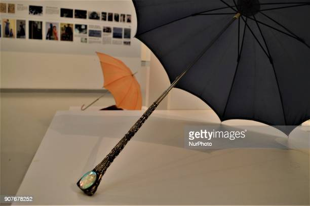 A historic umbrella is seen as a part of the 'Dressing A Nation Sumerbank Patterns Between the Years of 19562000' Exhibition in Ankara Turkey on...
