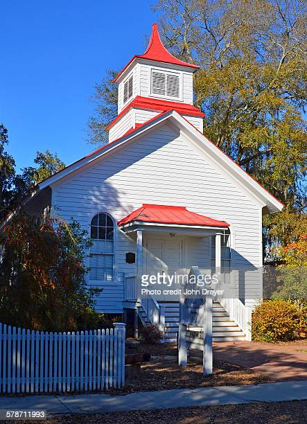 historic union church of port royal, sc - credit union stock photos and pictures