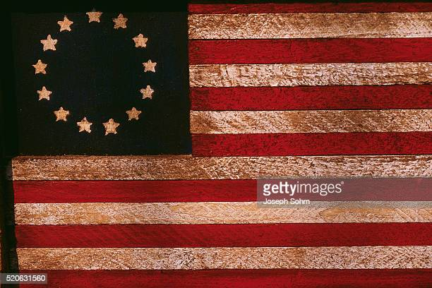 historic united states betsy ross flag - betsy ross flag stock pictures, royalty-free photos & images