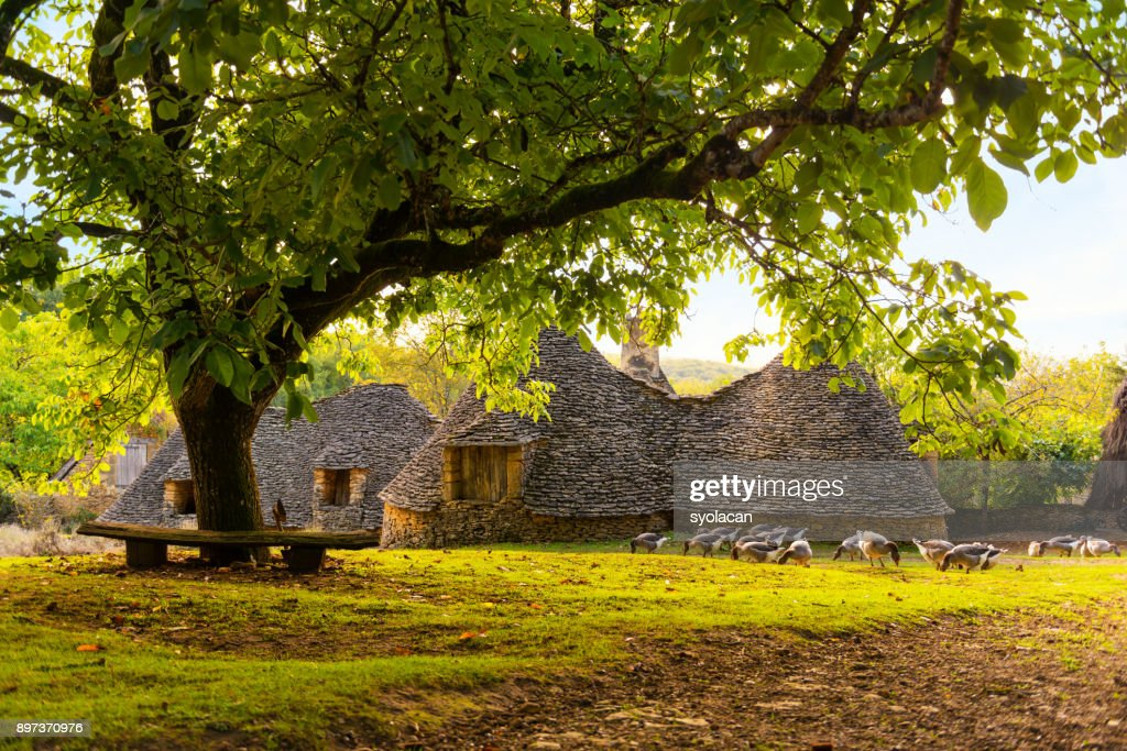 Historic village Cabanes du Breuil in France : Stock Photo