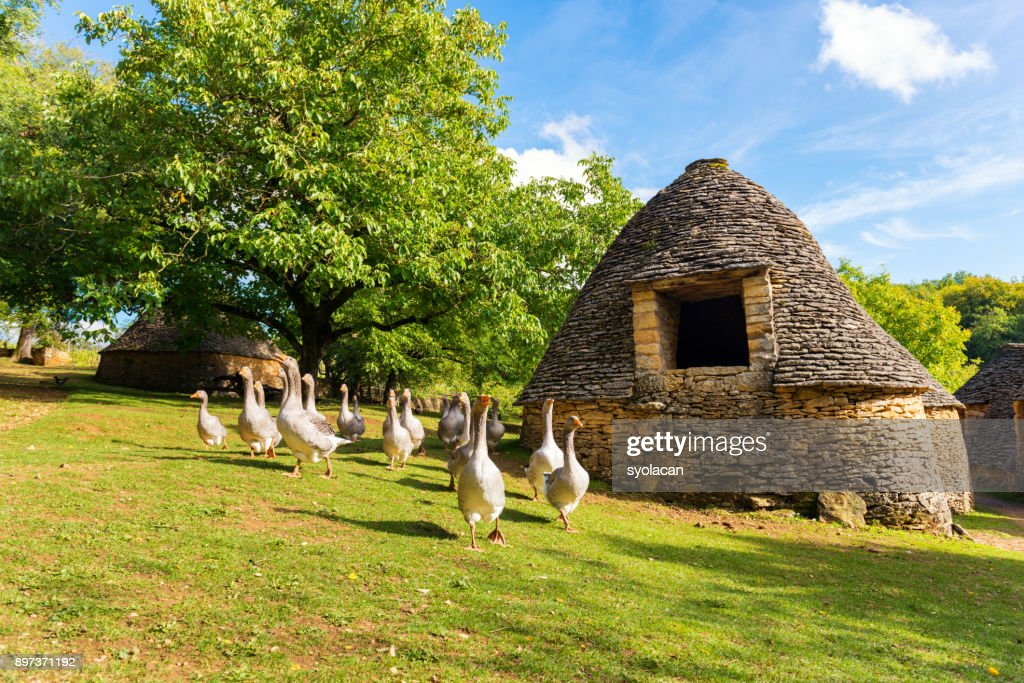 Historic village Cabanes du Breuil in France : Stock Photo