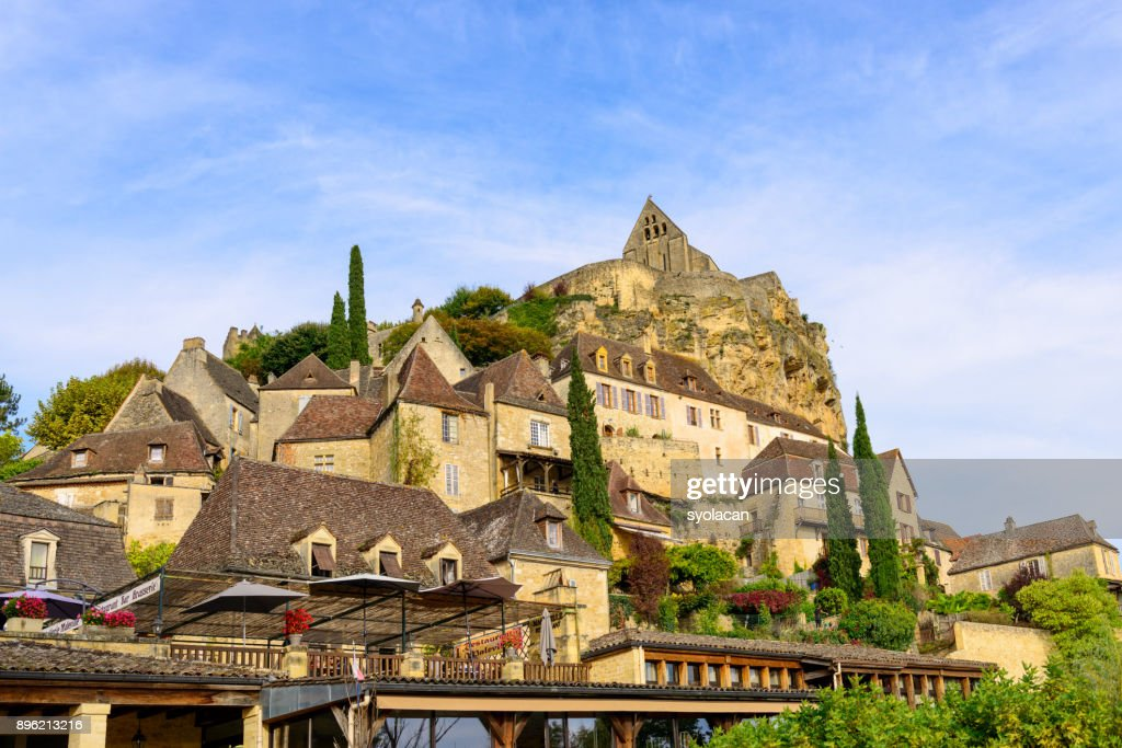 Historic village Gabarres de Beynac in France : Stock Photo