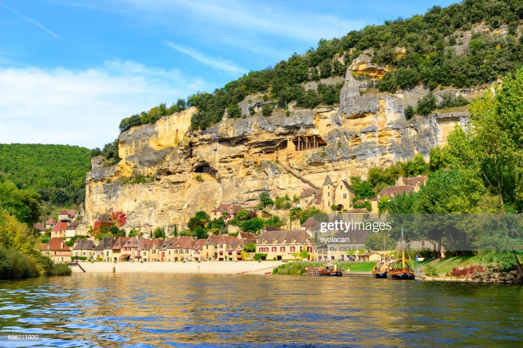 Historic village La Roque Gageac in France : Stock Photo
