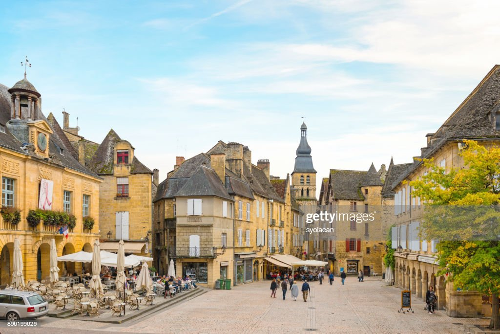 Historic village Sarlat La Caneda : Stock Photo