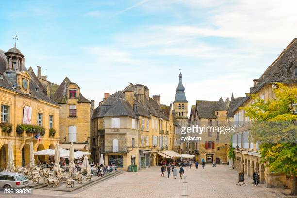 historic village sarlat la caneda - syolacan stock pictures, royalty-free photos & images